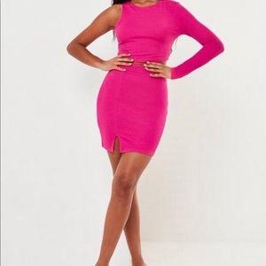 Hot Pink 2pc Mini Skirt Set (New)